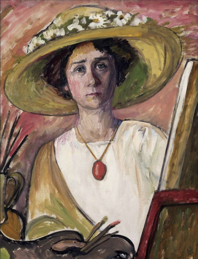 Gabriele Münter. Self-Portrait in front of an easel