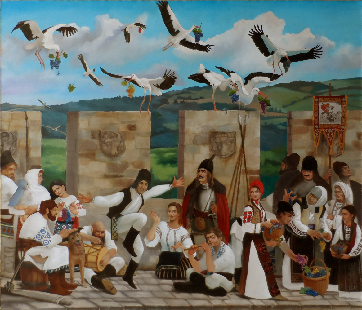 Alexander Giza-Ciobanu. The legend of the stork