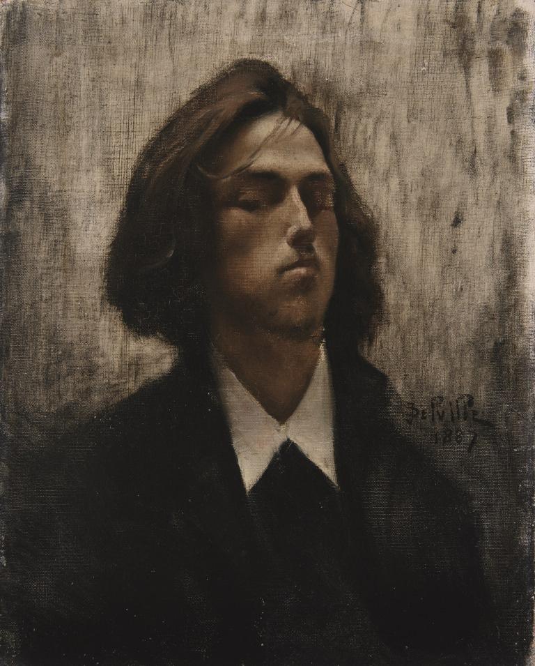 Жан Дельвиль. Автопортрет