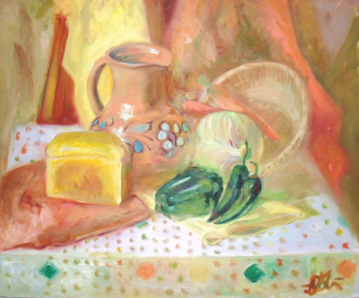 Alyona Golovanov. Still life with bread