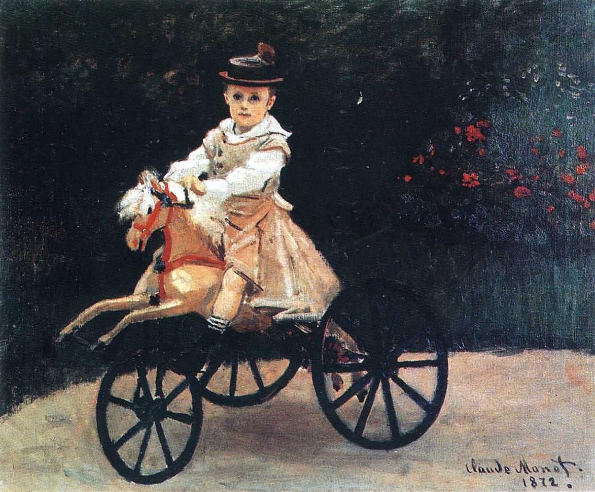 Claude Monet. Jean Monet on a horse