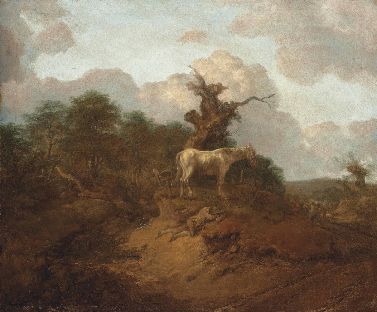 Thomas Gainsborough. Landscape with peasant and horses