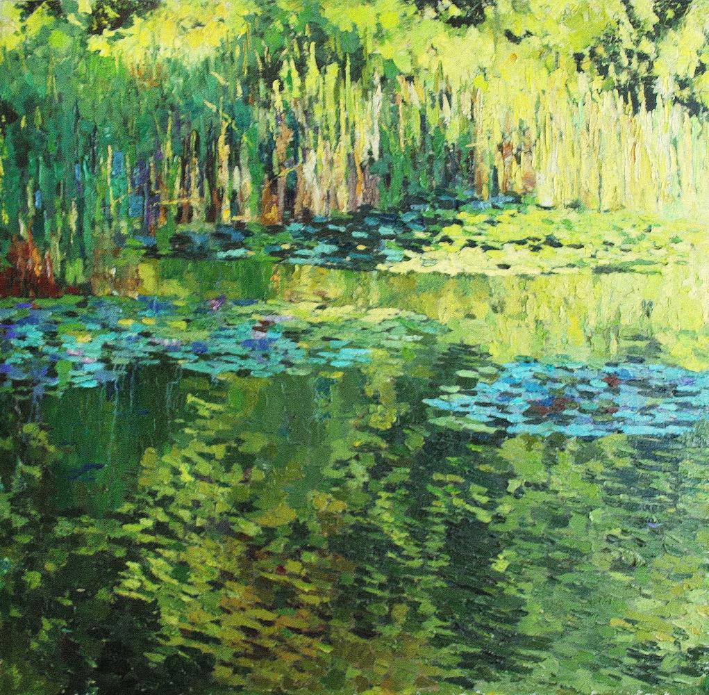 Mikhail Rudnik. Green pond