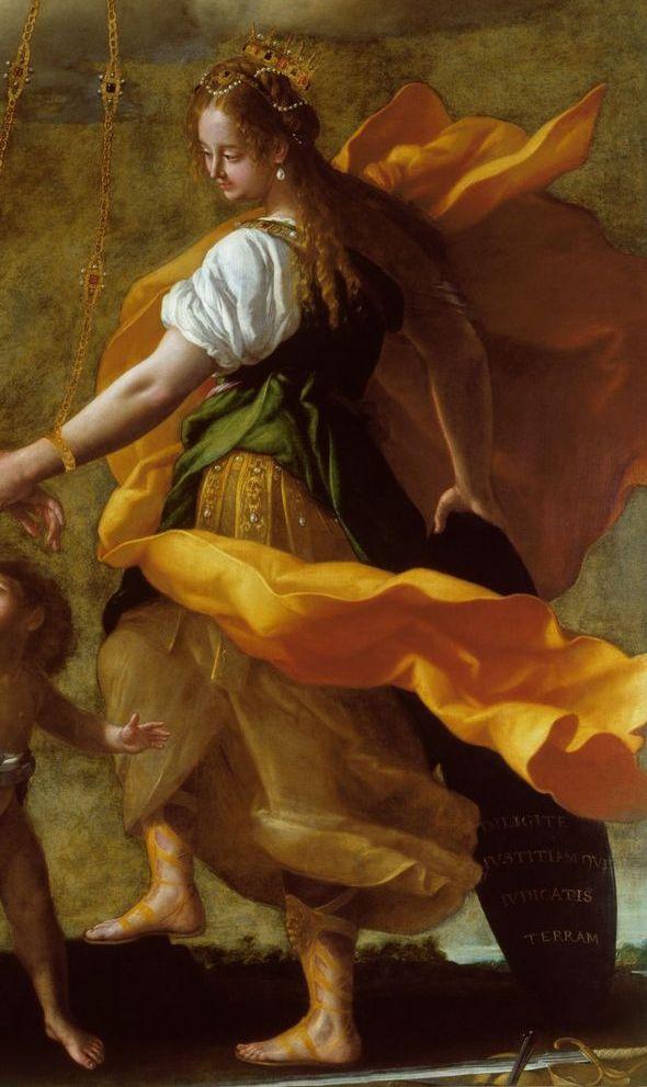 Джованни Бальоне (Баглионе). Аллегория примирения Милосердия и Правосудия. Фрагмент