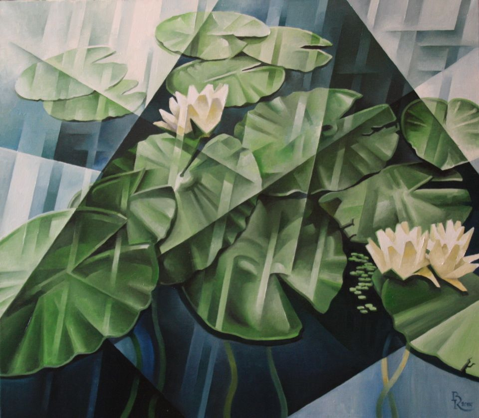 Vasily Krotkov. Lilies. Kubofuturizm