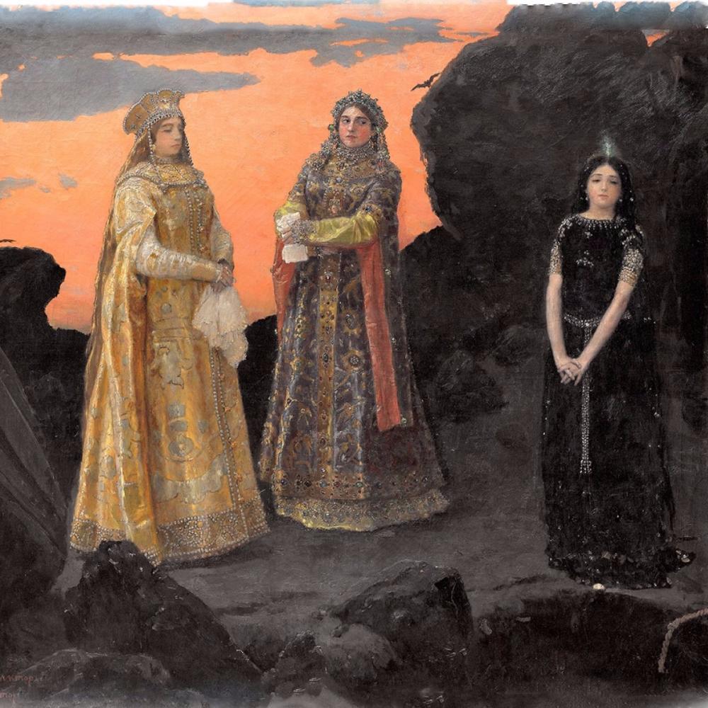 Victor Mikhailovich Vasnetsov. Three princesses of the underworld kingdom