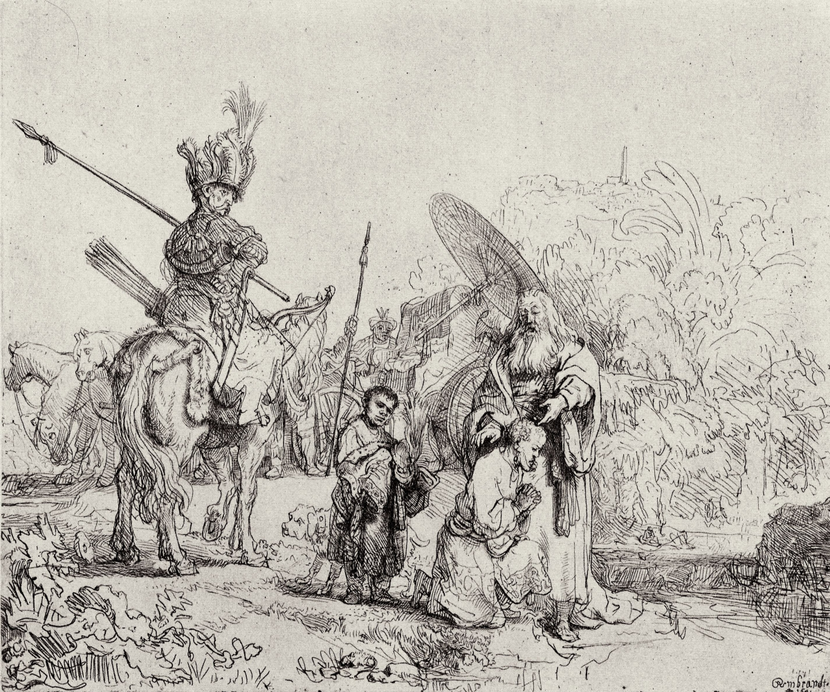 Rembrandt Harmenszoon van Rijn. The baptism of the Treasurer