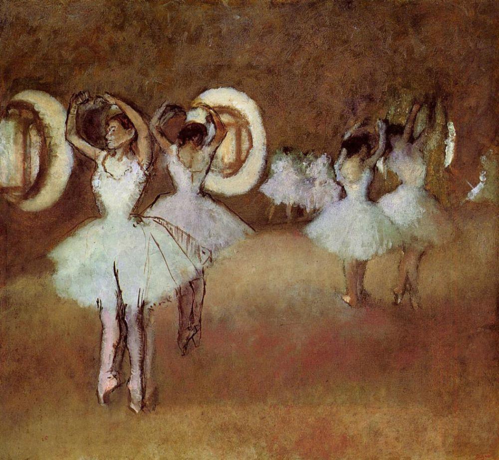 Эдгар Дега. Танцоры в ротонде Парижской оперы