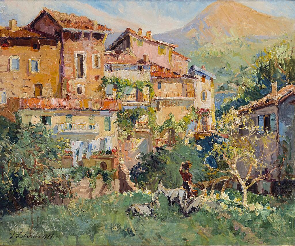 George Alexandrovich Lapshin. Солнечный день в средиземноморском городе