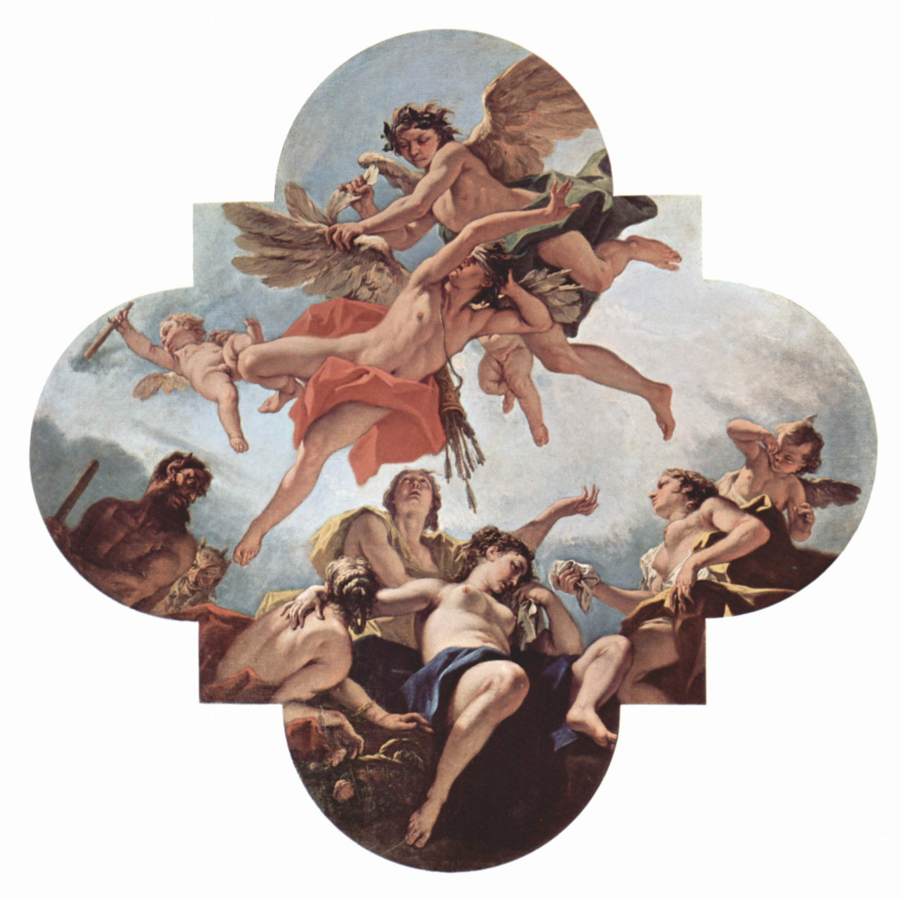 Себастьяно Риччи. Декорации для палаццо Маручелли-Фенци во Флоренции, третья станца. Наказание Амура