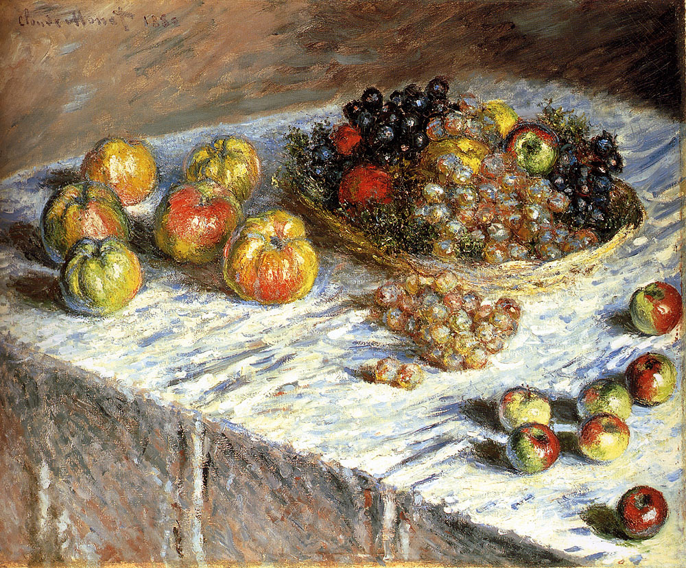 Claude Monet. Still life with apples and grapes