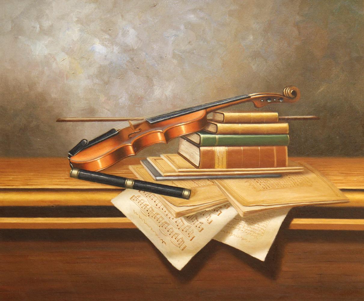 Savely Kamsky. Still life with a violin