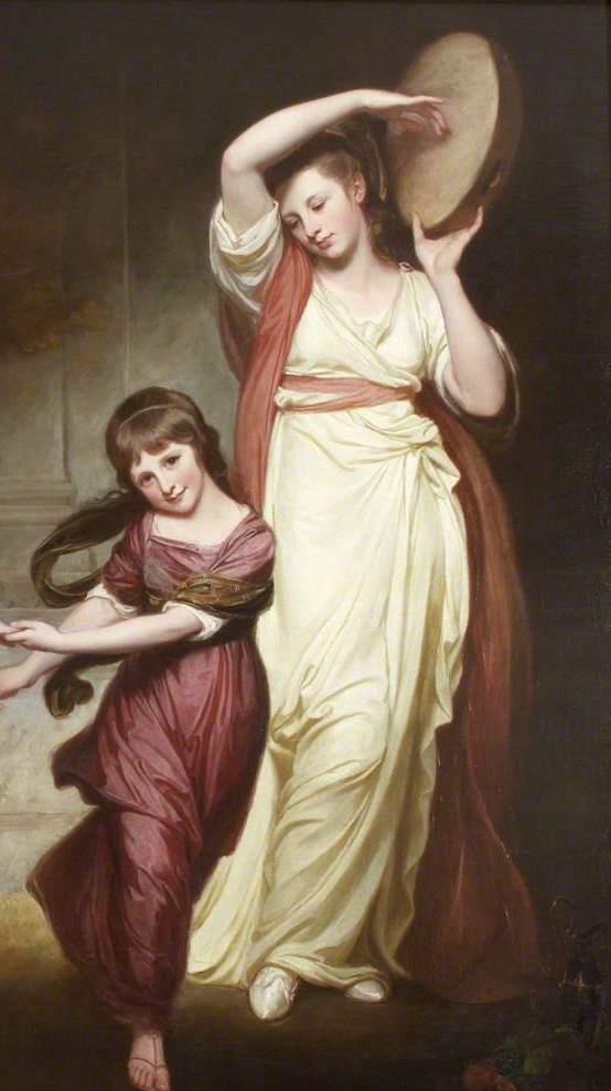 Джордж Ромни. Дети Гранвиль, семья 2-го графа Гауэра. Фрагмент II