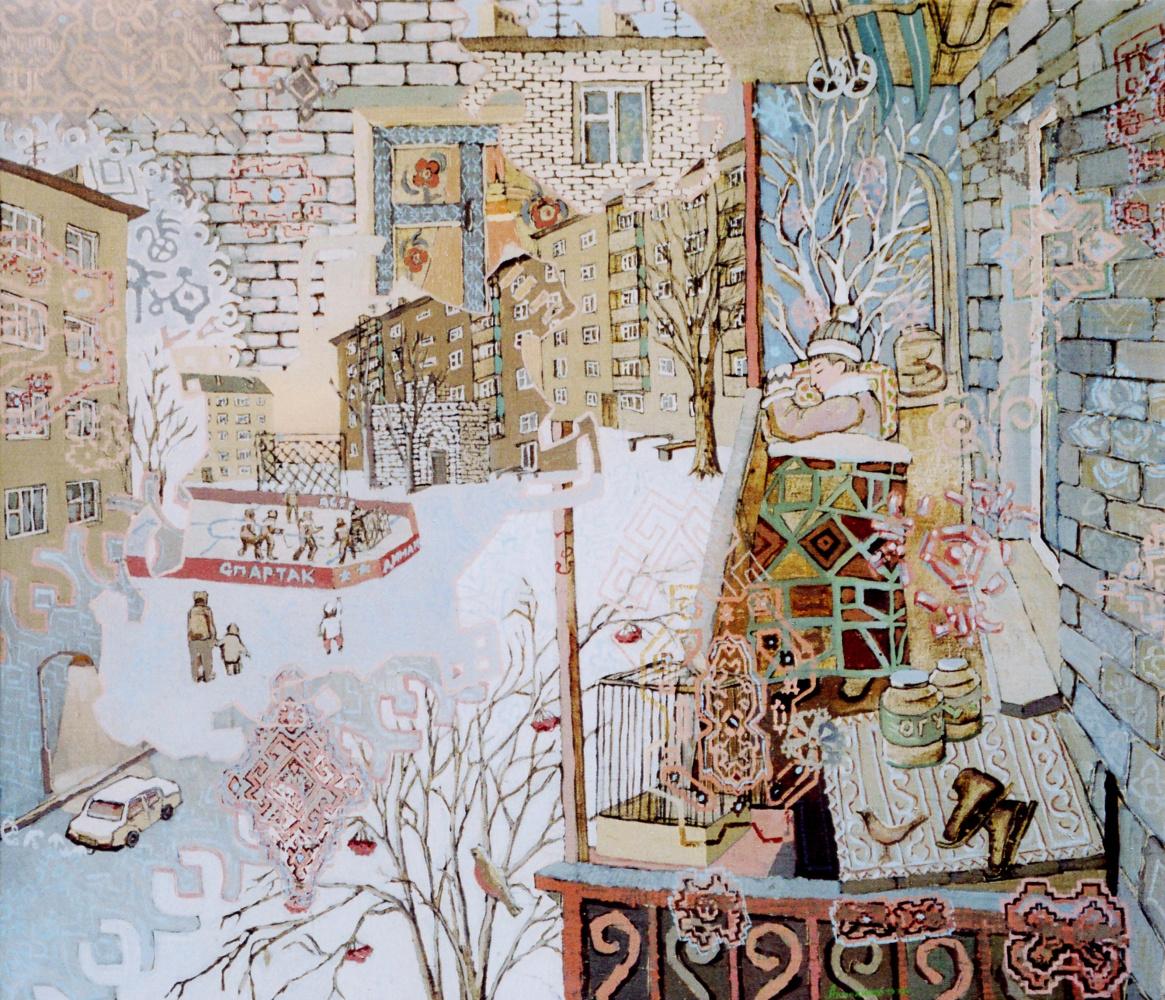 Алексей Петрович Акиндинов. Boy's dream of courtyards