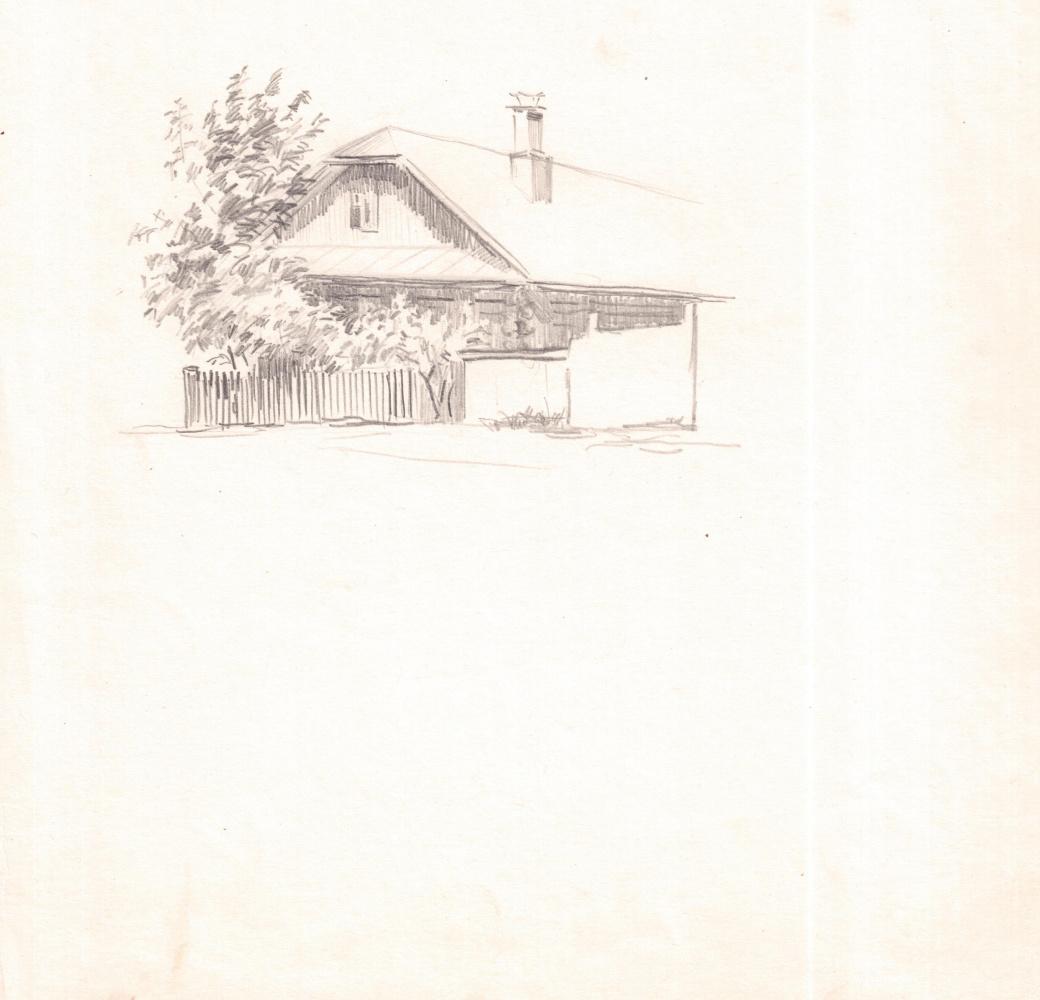 Arkady Pavlovich Laptev. Wooden house