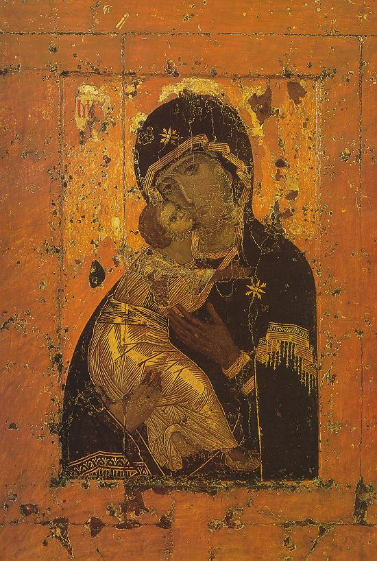 Icon Painting. The virgin and child