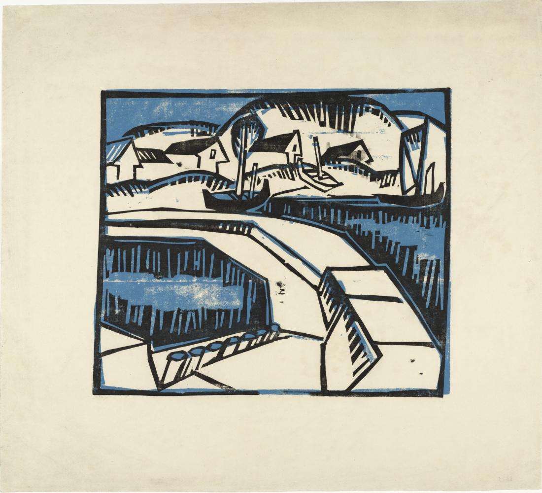 Karl Schmidt-Rottluff. Dunes and pier