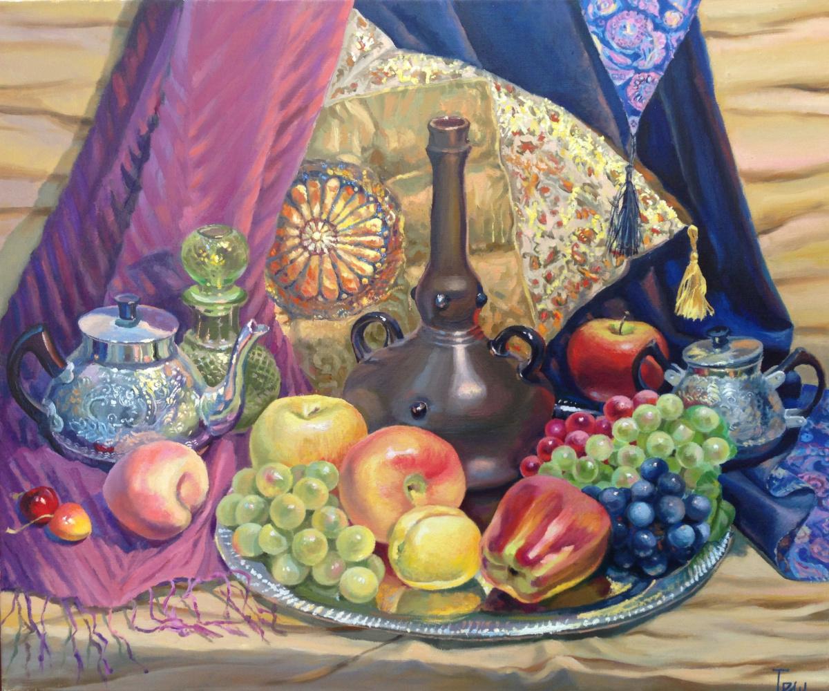 """Natalia Vladimirovna Ilyina. """"Still life in oriental style"""""""