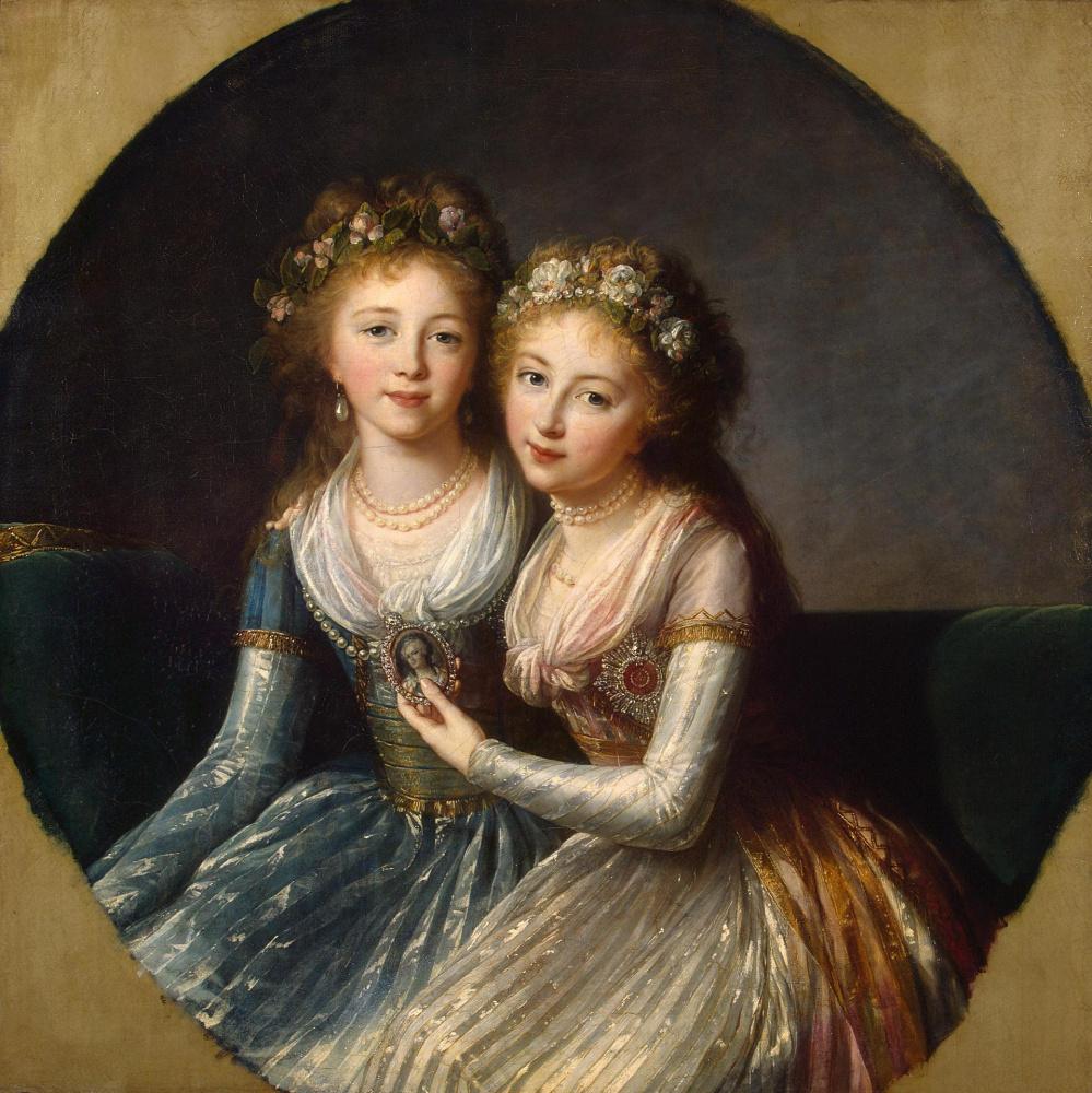 Elizabeth Vigee Le Brun. Portrait of the daughters of Emperor Paul I
