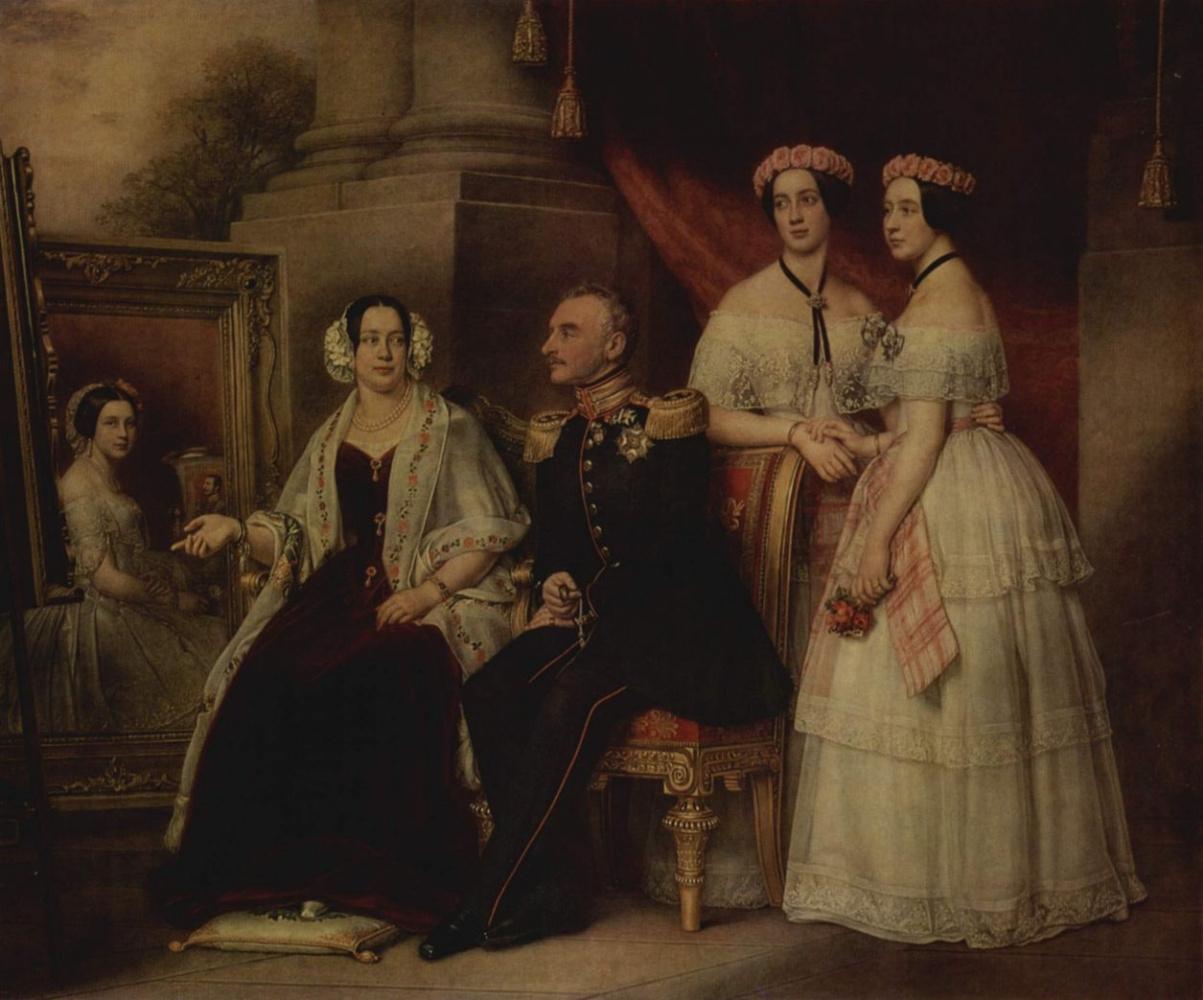 Йозеф Карл Штилер. Семейный портрет герцога Йозефа Саксонского-Альтенбург