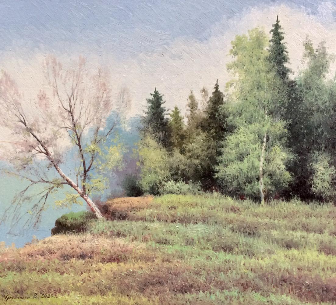 Vasily Ivanovich Gribennikov. Forest river bank