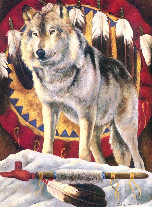Taber Nanku Wood. The spirit of the wolf