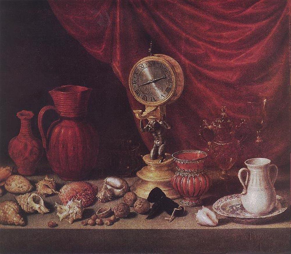Антонио де Переда. Натюрморт с маятником