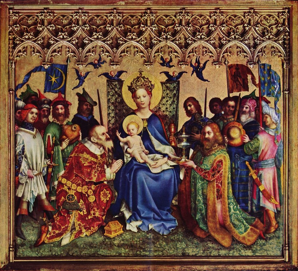 Stefan Lochner. The adoration of the Magi