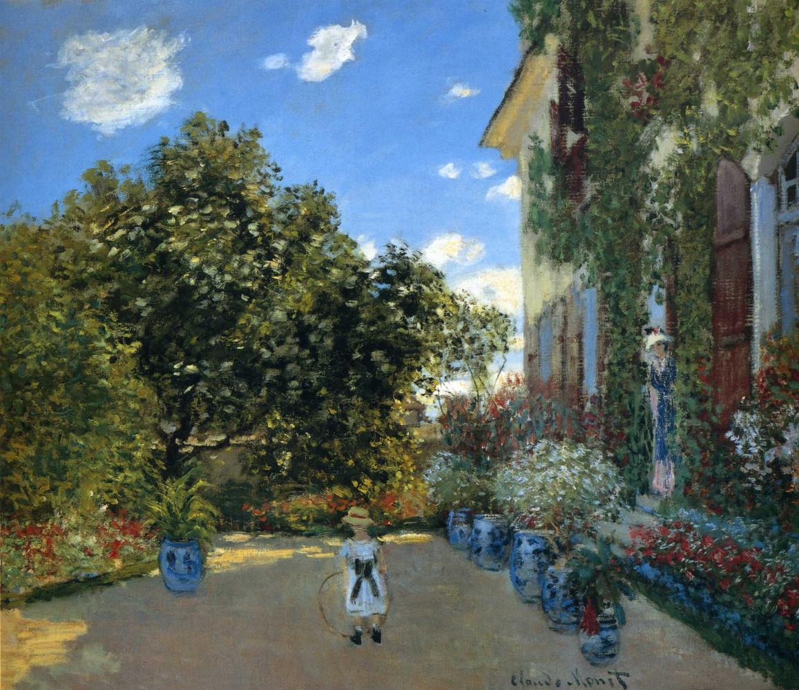 Claude Monet. Artist's house at Argenteuil