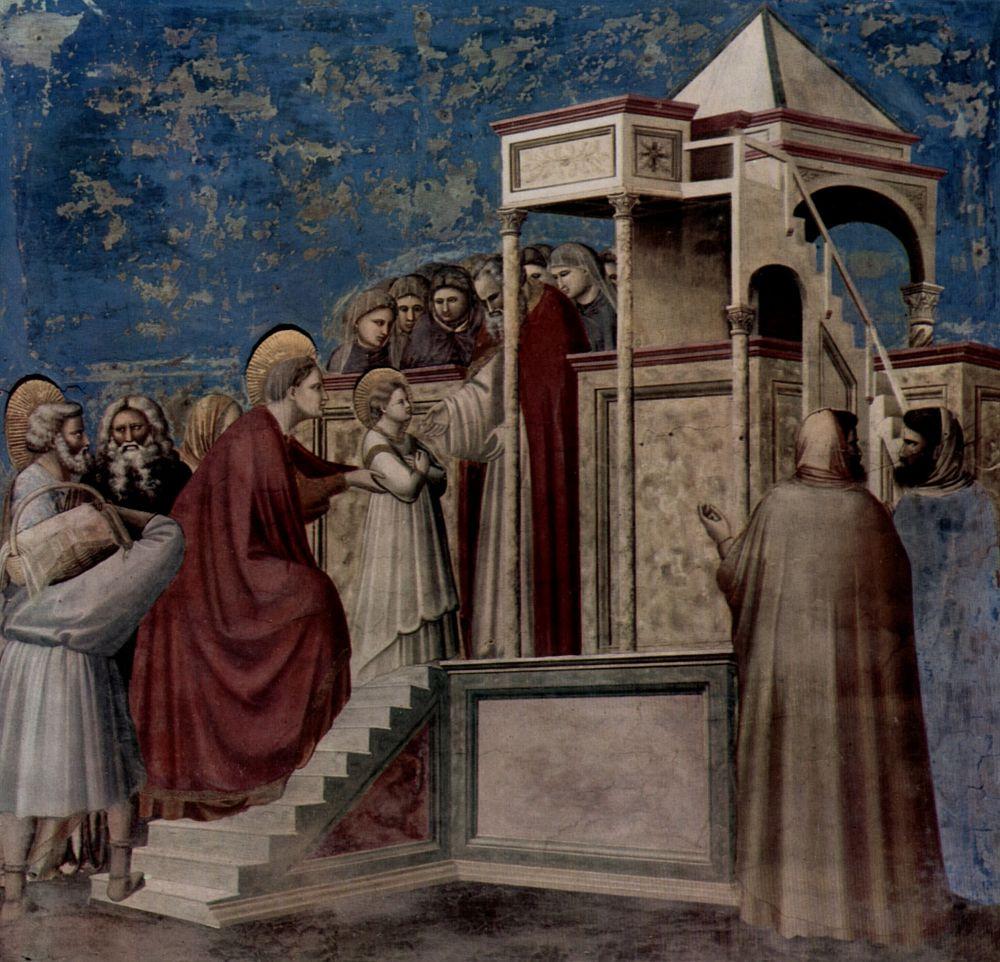 Джотто ди Бондоне. Введение Марии во храм