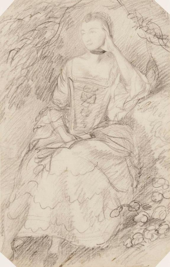Thomas Gainsborough. Ann Ford (later Mrs. Philip Talknet). Sketch II