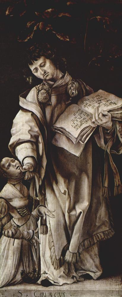 Маттиас Грюневальд. Неподвижные доски с четырьмя святыми для Геллеровского алтаря Альбрехта Дюрера