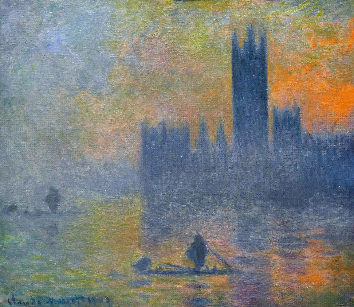 Claude Monet. The Palace of Westminster. The fog effect