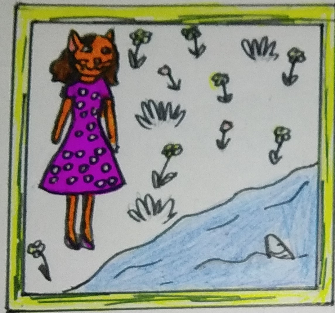 "Zina Vladimirovna Parisva. Illustrations for the tale ""The Story of the Little Cat"" 3"