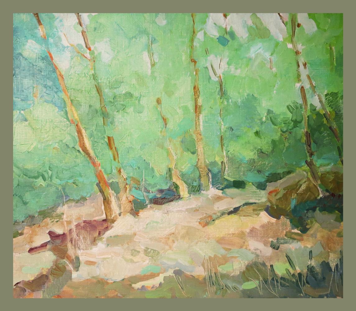 Yuri Mikhailovich Ivanov. Crimean forest in spring.