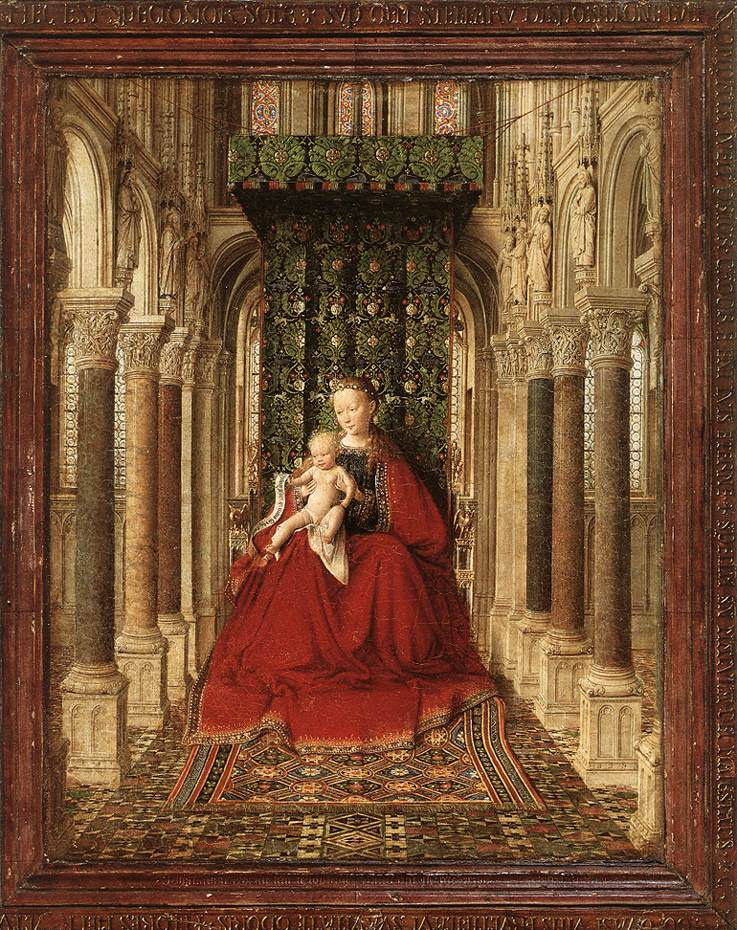 Ян ван Эйк. Дрезденский триптих. Центральная сцена: Мадонна с Младенцем