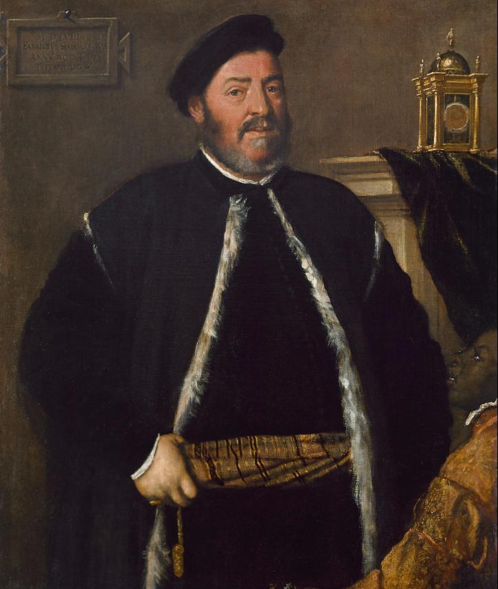 Тициан Вечеллио. Портрет Фабрицио Сальварезио