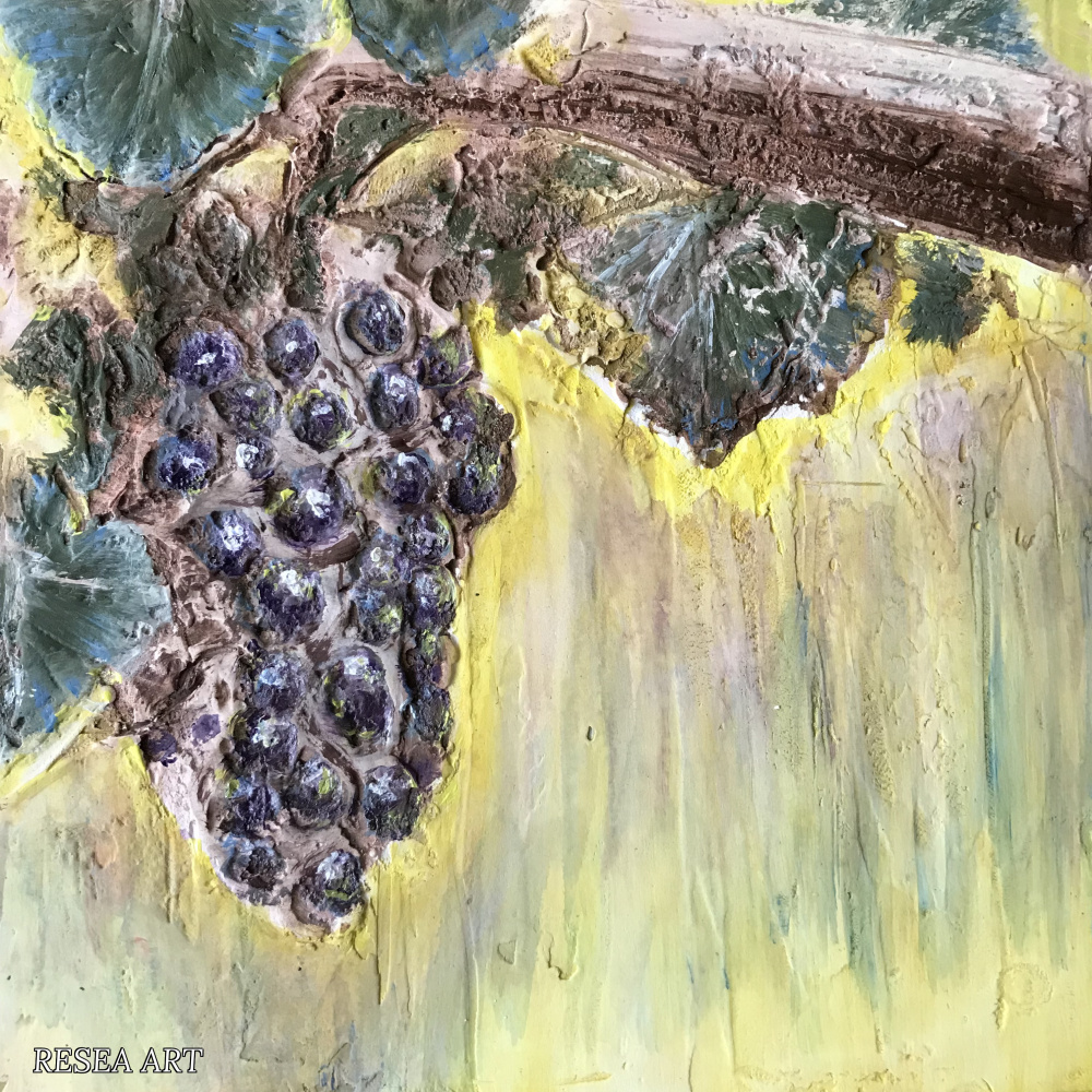 RESEA .. Flowers of Russia. Study 4. Grapes