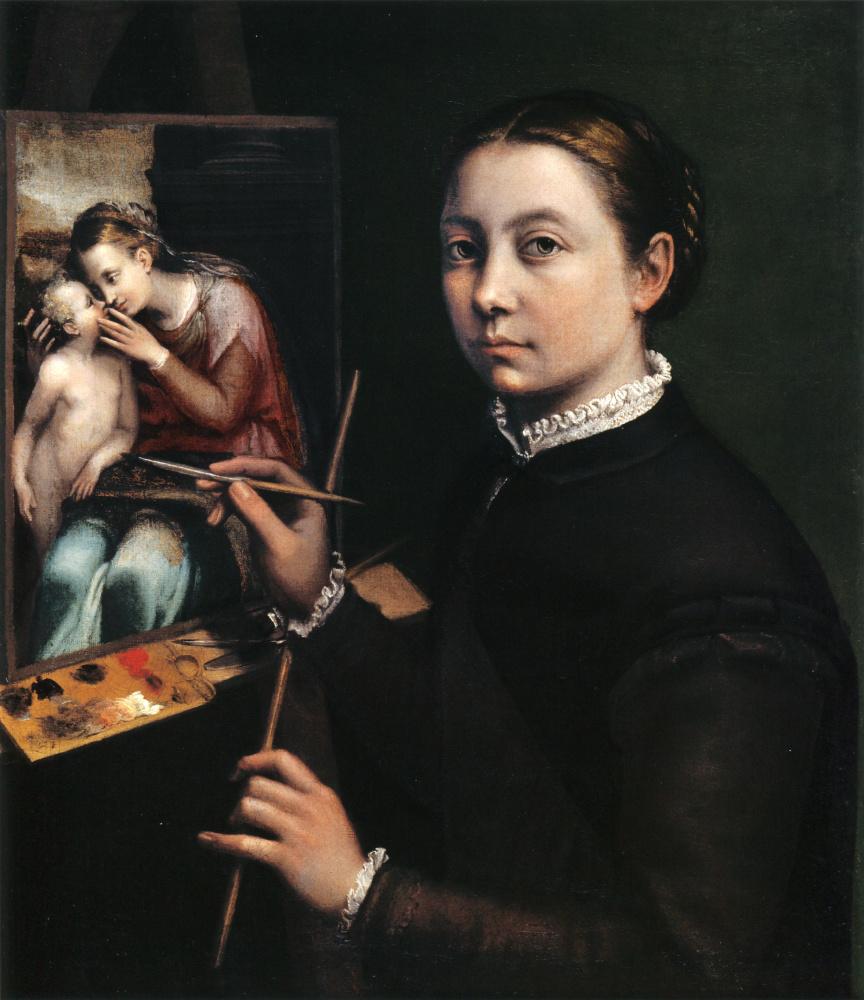 Софонисба Ангвиссола. Автопортрет у мольберта