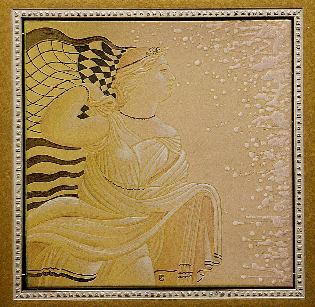 "Evgeny eugenevich mother. ""Desire"" enamel.steel. 50x50 cm"