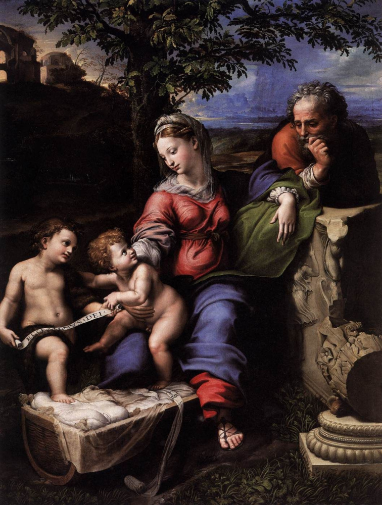 Raphael Sanzio. The Holy Family under an Oak Tree