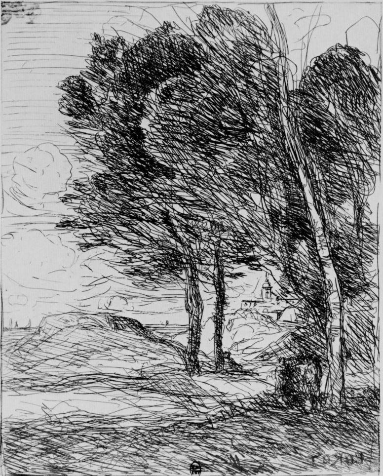Камиль Коро. Пейзаж близ Генуи