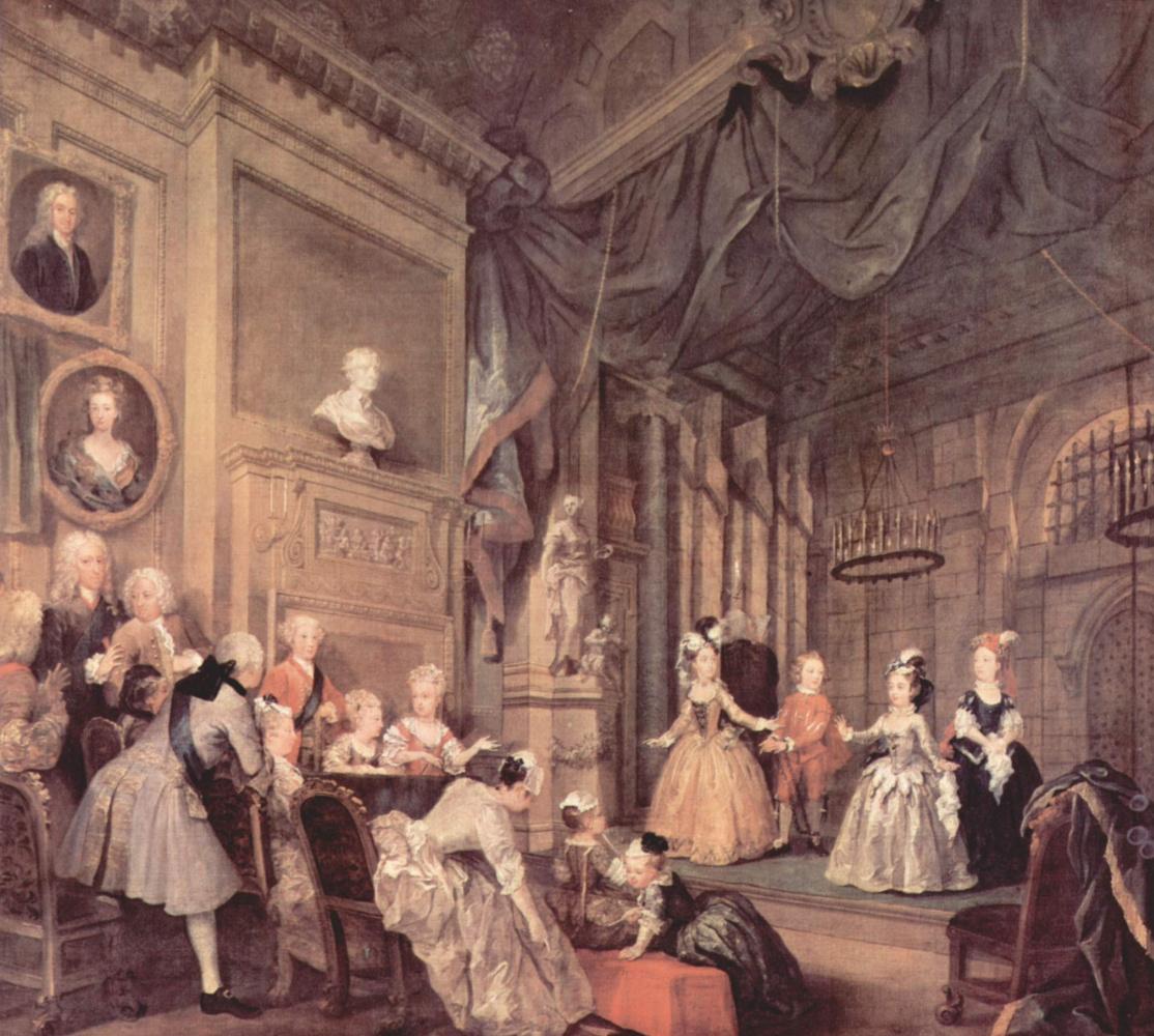 William Hogarth. Children's representation in the house of John Conduit