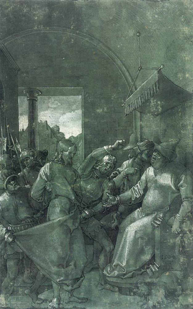 Альбрехт Дюрер. Христос у Каиафы