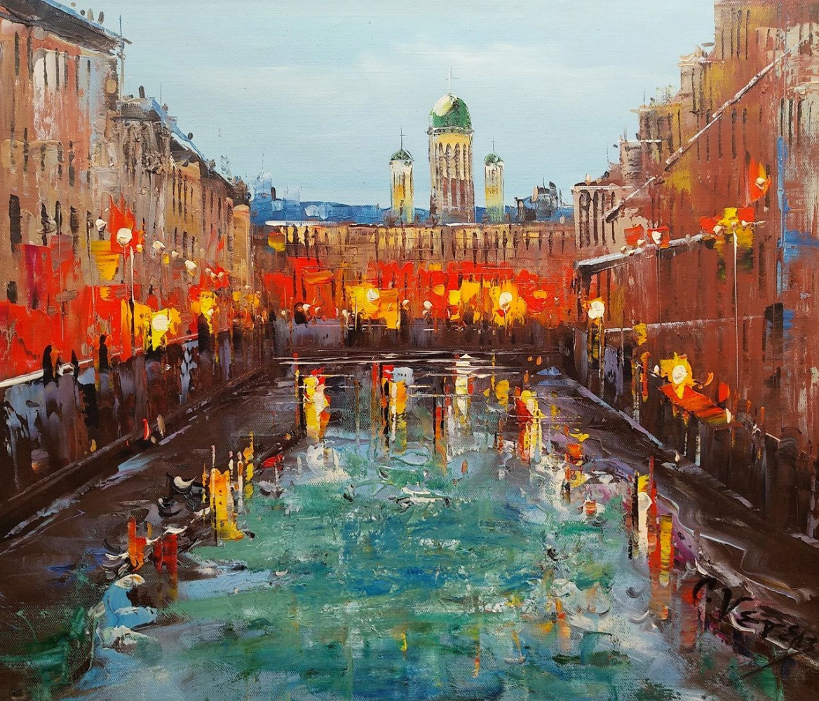 (no name). St. Petersburg. After the rain