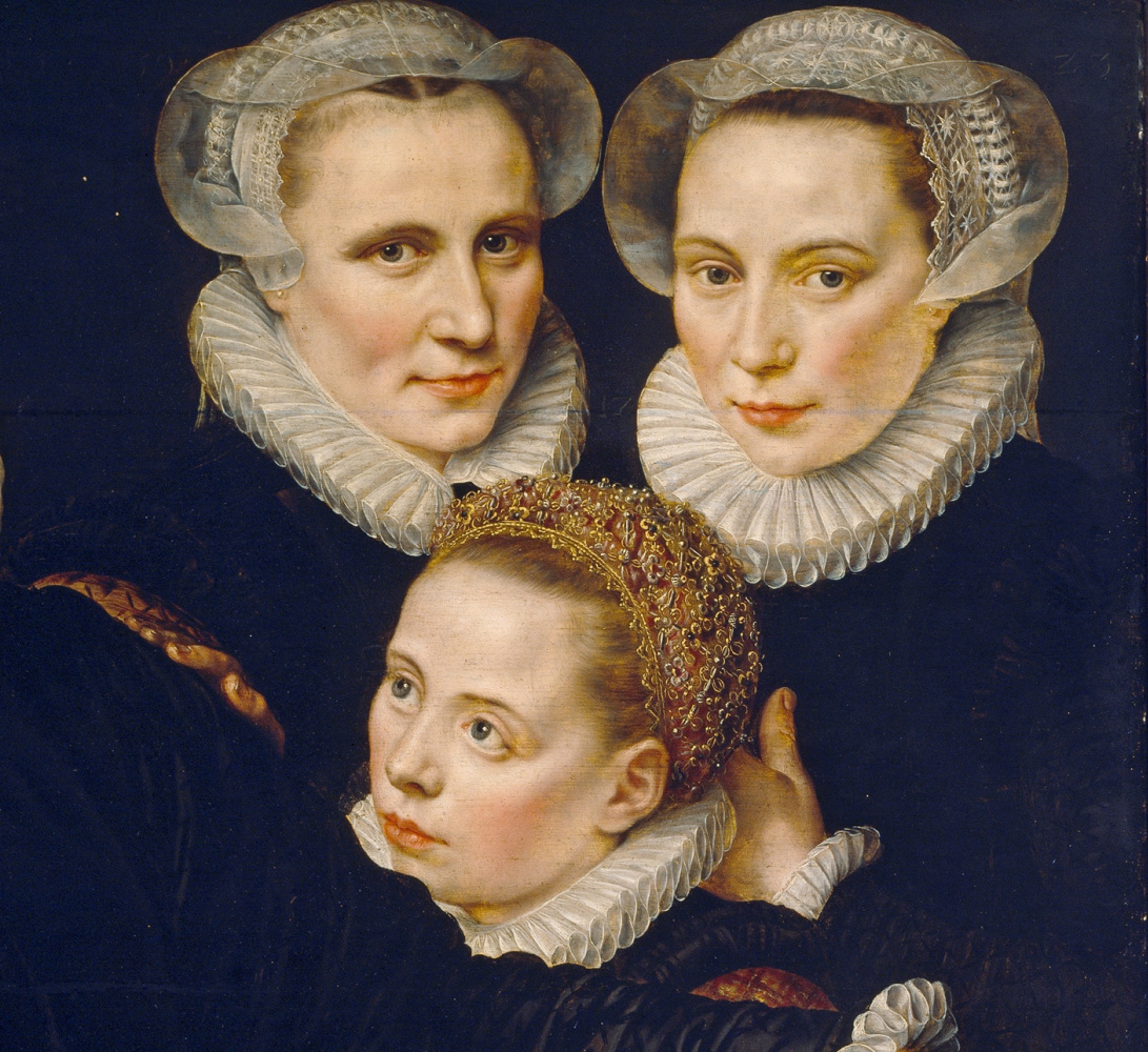 Adrian Thomas Kay. Portrait of a Flemish family. Fragment 3