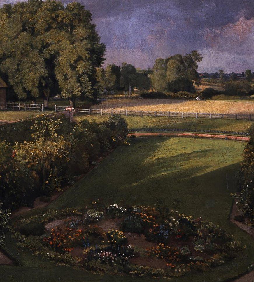Джон Констебл. Цветочный сад Голдинга Констебла. Фрагмент: клумба на лужайке