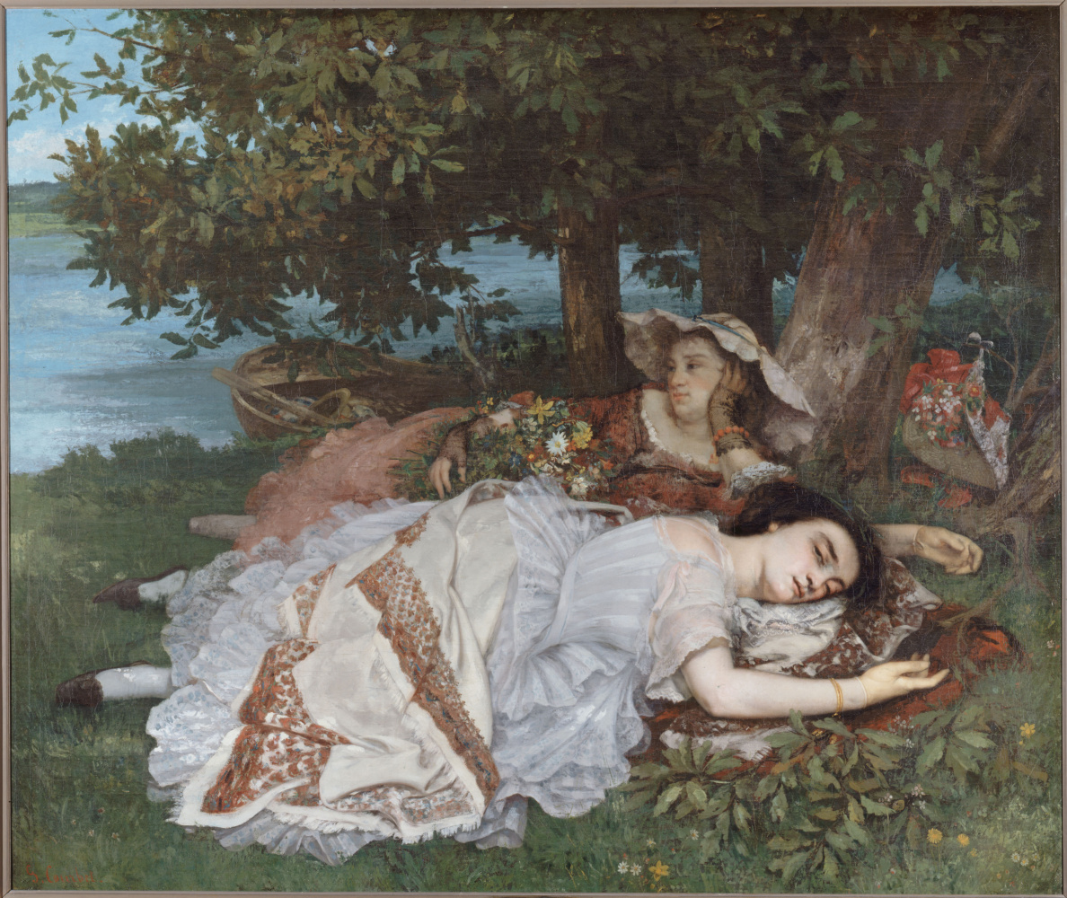 Gustave Courbet. Girls on the banks of the Seine (Summer)