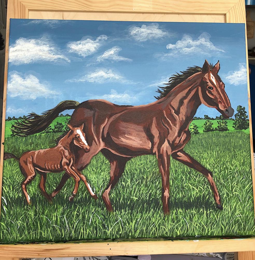 Lara Ershova. Horses