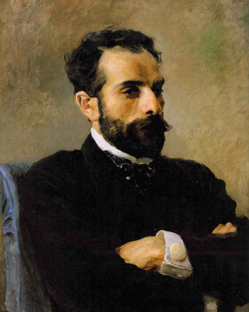 Vasily Polenov. Portrait of Isaac Levitan